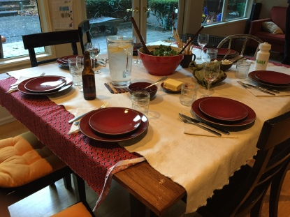Our Thanksgiving table.